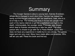 Summary The Hunger Games ...