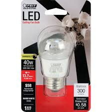 Feit Ceiling Fan Light Bulbs Details About Feit Electric Bpa15 Cl Dm Su Led 40w Equivalent Clear A15 Dimmable Led Fan Light