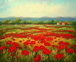 unknown paintings poppy field painting