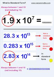 standard form physics number resources standard form multiplication grid and negative