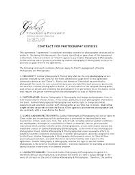 Wedding Photography Contract Form Commercial Contract Template Video Production Photography Australian