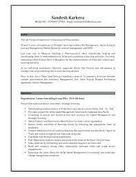Sourcing Manager Resume Mazard Info