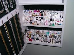 Jewelry Organizer Wall White Clothing Armoire 25 Best Ideas About Wall Mount Jewelry