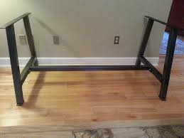 a frame metal table legs with cross brace