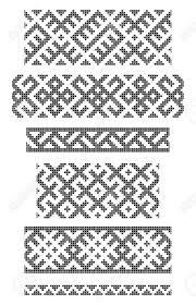 Stock Vector Tapestry Crochet Patterns Cross Stitch