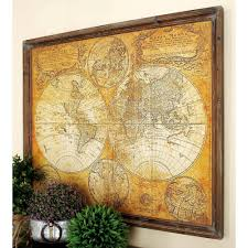 mdf antique world map wall decor on world map wall art with photo frames with litton lane 34 in x 41 in mdf antique world map wall decor 20327