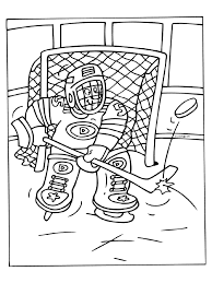 Kleurplaat Ijshockey Doelman Keeper Kleurplatennl