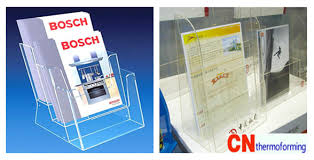 Acrylic Flyer Display Stand Acrylic Brochure Holders CN Custom Thermoforming 42