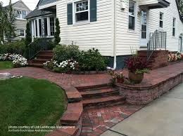 Front Garden Brick Wall Designs New Front Yard Landscape Designs With Before And After Pictures