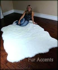 white faux fur area rug faux white fur rug fur accents gy plush faux fur sheepskin white faux fur area rug