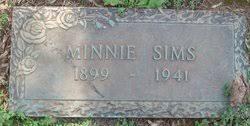 Minnie Wicker Sims (1899-1941) - Find A Grave Memorial