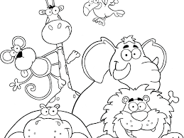 Jungle Animal Colouring Pages Free Coloring Pages Baby Free