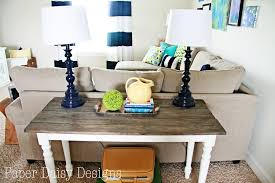 Diy Sofa Table For Modern Style Easy DIY Console Table