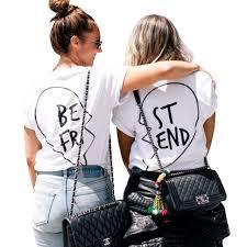 Beste Freunde T Hemd Frauen Sommer Vegan Tumblr Harajuku Kawaii