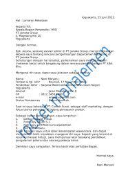 Download 15 Contoh Surat Lamaran Pekerjaan Yang Baik Dan Benar