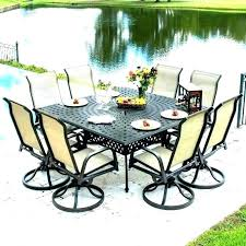 8 person outdoor dining table 8 person outdoor dining set square patio table for large patio