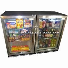 mini glass door fridge freezer door