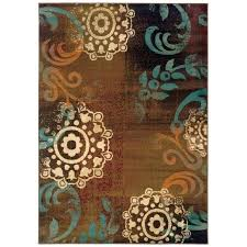 brown blue area rugs gray rug
