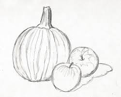 pumpkin drawing with shading. when you are satisfied with your basic drawing, it\u0027s time to add the shading. look at photo again. there shadows not only on table, pumpkin drawing shading u