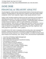 16 Free Sample Treasury Analyst Resumes Best Resumes 2018