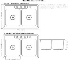 stunning standard double kitchen sink size double basin kitchen sink dimensions best kitchen ideas 2017