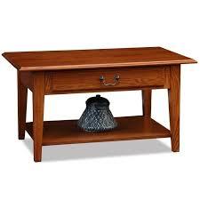 leick favorite finds coffee table in medium oak