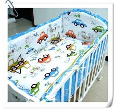 baby boy bedding set cotton embroidery car sea turtles letter crib cars disney