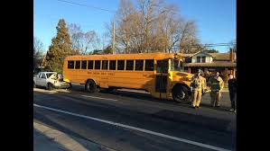 Truck hits school bus in east Charlotte | wcnc.com