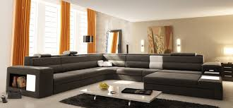 Contemporary Leather Sectional Sofa 5022 />