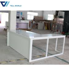 yellow office worktop marble office furniture corian. Marble Stone Top Two Sided Office Furniture Computer Manager Desk White Simple Table Yellow Worktop Corian