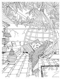 Bohemian Patio Design Adult Coloring Page How Cool Is This