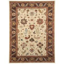 dynamic rugs charisma ivory brown 10 ft x 14 ft indoor area rug