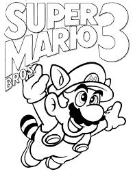 Super Mario Bros 3 Coloring Pages Coloringstar