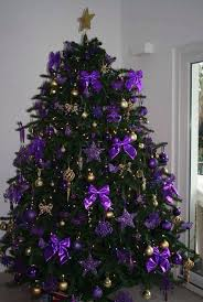christmas trees decorated purple. Ribbons Can Also Be Used In Decorating Your Christmas Tree Hang Those Purple Bow Tie Adorn It With Stars And Some Gold Baubles You Have Trees Decorated