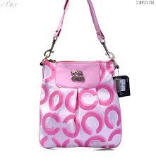 Coach Fashion Logo C Small Pink Multi Crossbody Bags