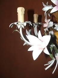 antique french porcelain rose flower tole chandelier vintage image concept tole chandelier vintage