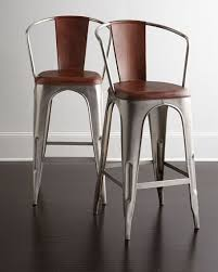 Interior Architecture Fascinating Leather Bar Stools In Roadhouse CB2   Provence Calanques Blue Leather Bar Stools A38