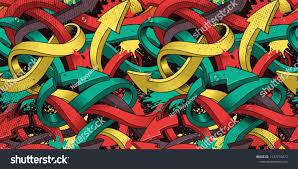 Seamless Colorful Background Graffiti On Dark Stockvector