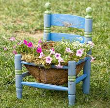 Small And Creative Chair Planters For Home Garden
