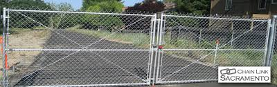 chain link fence driveway gate. Simple Gate Chain Link Gates Sacramento On Fence Driveway Gate R