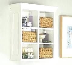 Small White Bathroom Wall Cabinet Shelf With Is Designed For