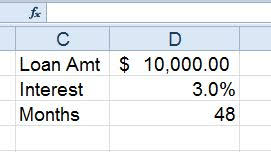 Calculate Loan Payment Formula Use Excel Pmt Formula To Determine Loan Interest Pryor