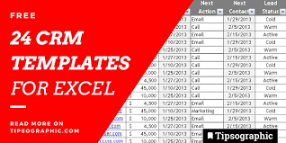 24 Epic Crm Templates For Excel Free Tipsographic