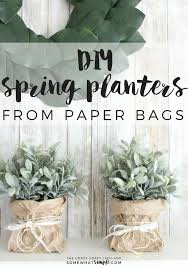 Follow this tutorial to learn how to make super simple spring paper bag  planters. This