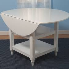 drop leaf kitchen table with 2 round stools