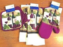 kitchen towel sets kitchen towel sets 5 wine kitchen towel set potholder oven mitt wine gs kitchen towel sets