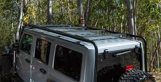 Jeep Jk Roof Lights Go Rhino Overhead Overland Roof Rack System With Light Bar