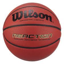 Wilson Basketball Size Chart Wilson Mens Reaction Microfibre Composite Leather