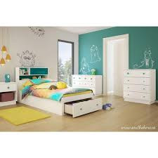 turquoise bedroom furniture. South Shore Little Monsters 1-Drawer Pure White Twin-Size Storage Bed Turquoise Bedroom Furniture T