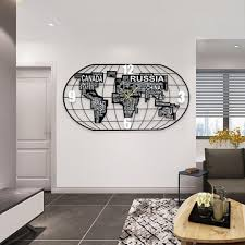 Wall clock for office Home China Creative Metal Wood Novelty Large World Map Wall Clock For Living Room And Office Global Sources China Creative Metal Wood Novelty Large World Map Wall Clock For
